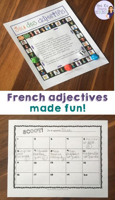 Mastering French adjectives doesn't have to be boring!  Click here to read fun and highly effective ways to teach French adjectives!