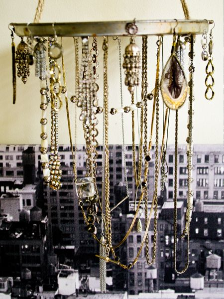 Make your own chandelier out of lost, broken or old jewelry! I would want to add a lot more