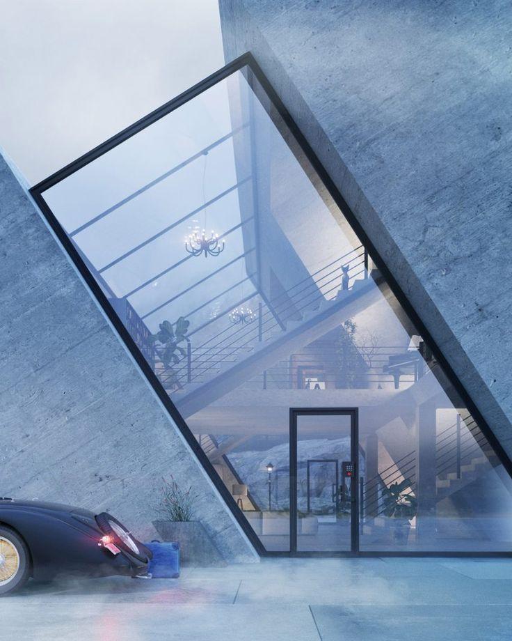 Polish designer Wamhouse Studio has visualised four houses based on the shapes of corporate logos.