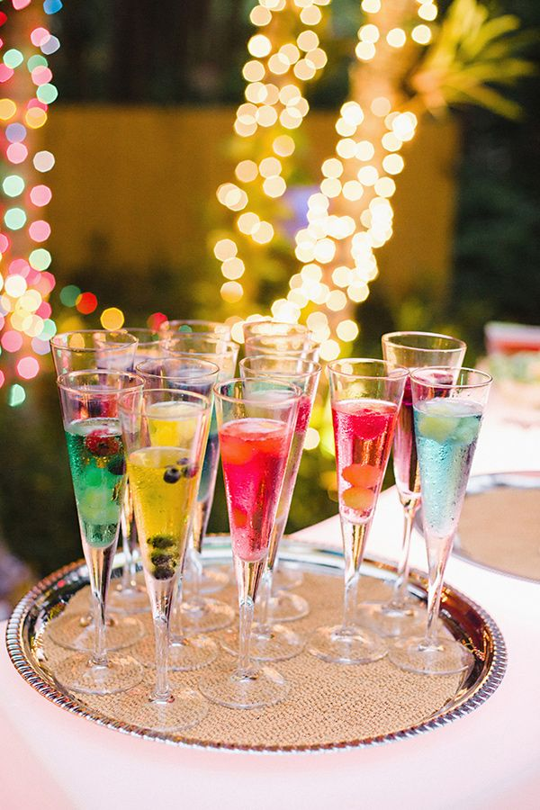 Fun Fort Lauderdale Beach Wedding - Colorful Drink