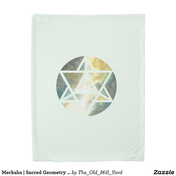 Merkaba | Sacred Geometry Blanket by Kari Weatherbee Blanket | Throw Blanket | Bedding | Home Decor