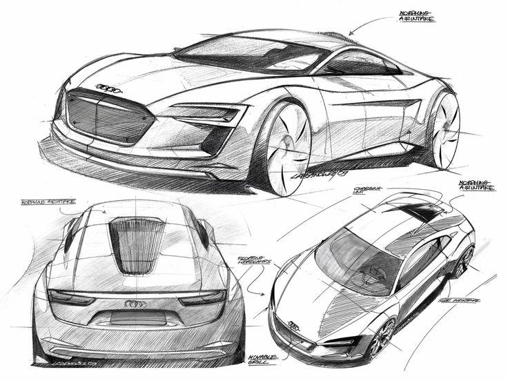 Audi e-tron Concept Design Sketches