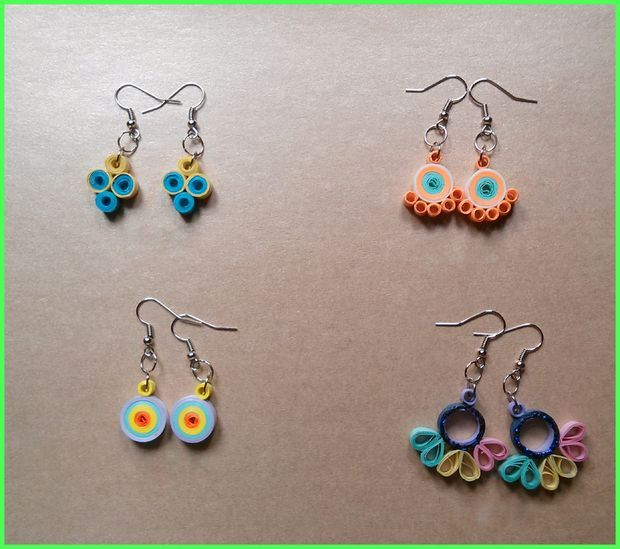Quilling Papers Earrings: Quilling Earrings: Simple And Pretty!