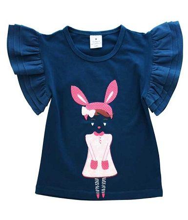 Curious Wonderland Bunny Girl Flutter Tee