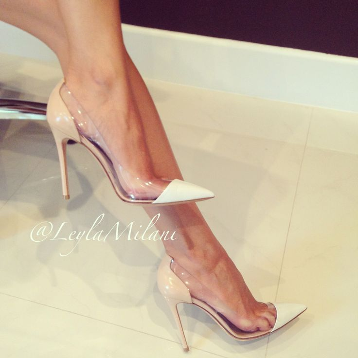 Gianvito Rossi shoes! #pvc, sexy shoes, perfect for date night during this summer season and all year round! #repin #pinterest