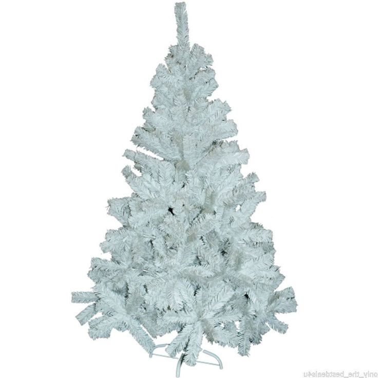 White Christmas Tree 6 Ft Xmas Decorations Artificial Trees Stand Indoor Decor | eBay