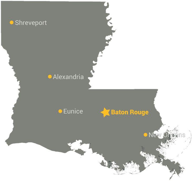 Louisiana Map Alexandria%0A Louisiana Map StateGiftsUSA com madeinlouisiana