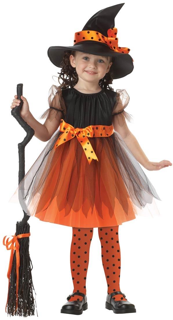 Orange Charmed Witch Fancy Dress Up Girls Toddler Kids Halloween Costume -  sc 1 st  Pinterest & 27 best The cute side of Halloween images on Pinterest | Children ...