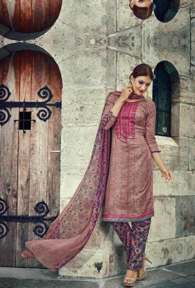 Pink designer suit with dupatta
