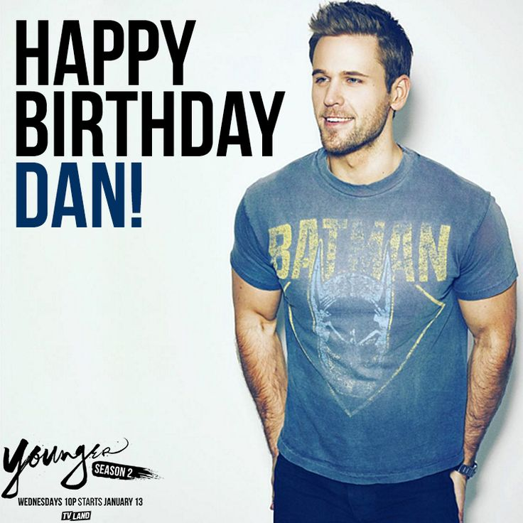 You'll see another side to Thad this season. Happy birthday to the charming Dan Amboyer! Send him your birthday wishes in the comments! You can also click to watch Dan in the latest episodes of Younger on TV Land.