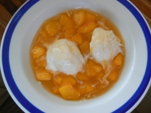 Think this peach sauce might be good for the 'ice cream social' at Brandy's for the 4th!