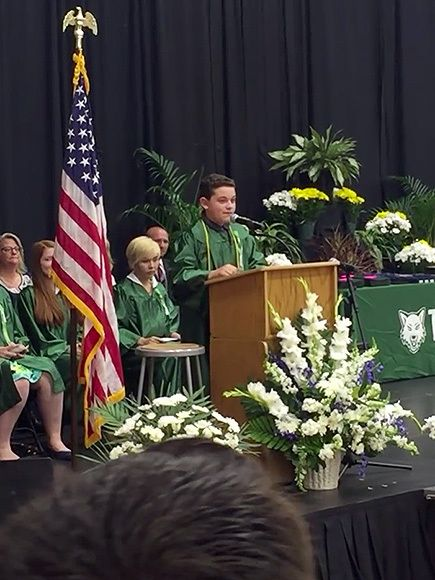 Presidential Graduation Speech: Eighth Grader Impersonates�Candidates