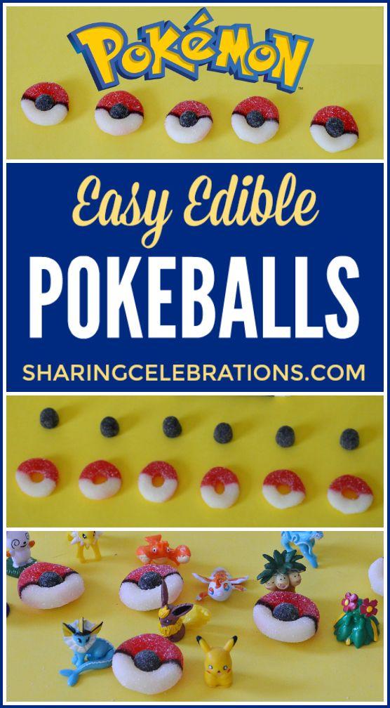 Edible Pokeballs we made - so fun and easy!!