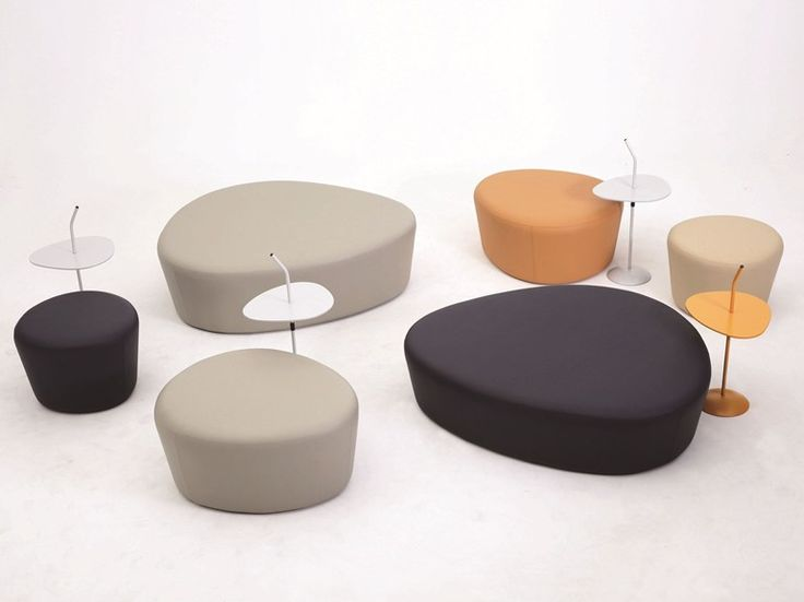 Upholstered fabric pouf lotus lotus collection by grado design furnitures design grado r - Design pouf ...