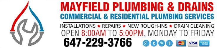 #MayfieldPlumbing Call 647-229-3766 for all your #BramptonPlumber needs from commercial plumbing to residential plumbing. http://mayfieldplumbing.ca