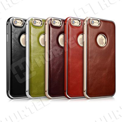 Etui i pokrowce | Skórzane etui z bumperem Vintage Series do iPhone 6 czarne | EKLIK - Sklep GSM, Akcesoria na tablet i telefon