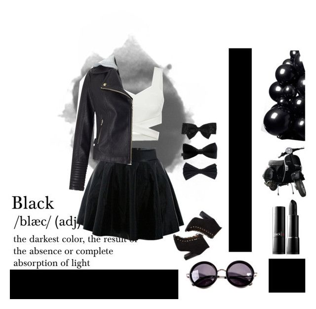 every girl need black. by ysca15 on Polyvore featuring polyvore, fashion, style, Miss Selfridge, Linda Farrow, Yves Saint Laurent, PINK BOW, clothing, Girls, black, sassy, dayout and girl  #black #swag #girl #dayout #outfit #ootd #pretty #style #simple #tumblr #trend