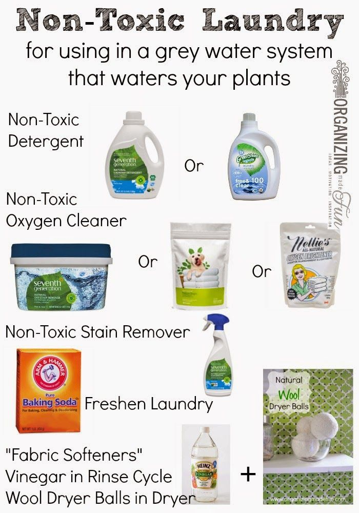 Non-Toxic Laundry - for using in a grey water system that waters your plants :: OrganizingMadeFun.com