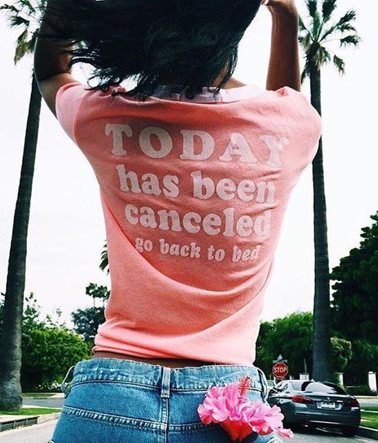 """Wildfox Couture - """"Today Has Been Cancelled"""" Vintage Ringer Tee"""
