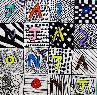 2nd grade beginning of year, name art