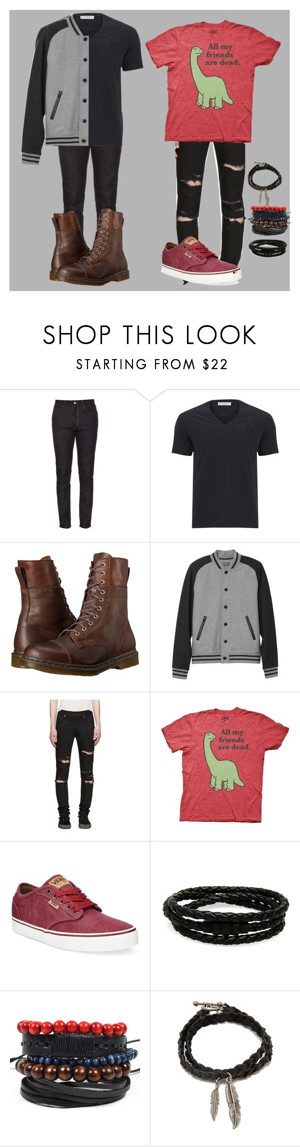 """Random IDK"" by xxanormalalienxx ❤ liked on Polyvore featuring Gucci, Versace, Dr. Martens, L.L.Bean, Yves Saint Laurent, Vans, Porsche Design, Forever 21, men's fashion and menswear"