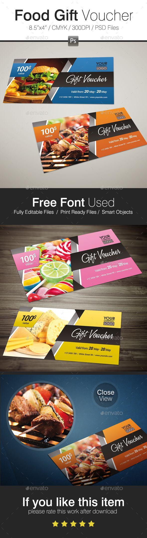 33 best gift voucher templates images on pinterest fonts food gift voucher design download httpsgraphicriveritem xflitez Image collections