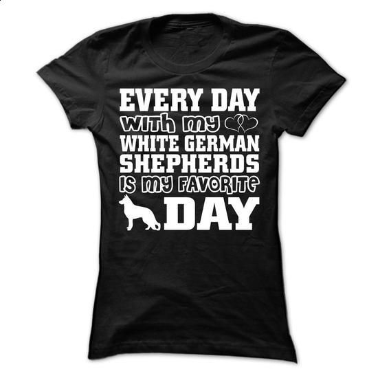 White German Shepherds - #funny graphic tees #silk shirts. ORDER NOW => https://www.sunfrog.com/Pets/White-German-Shepherds-63307106-Ladies.html?60505