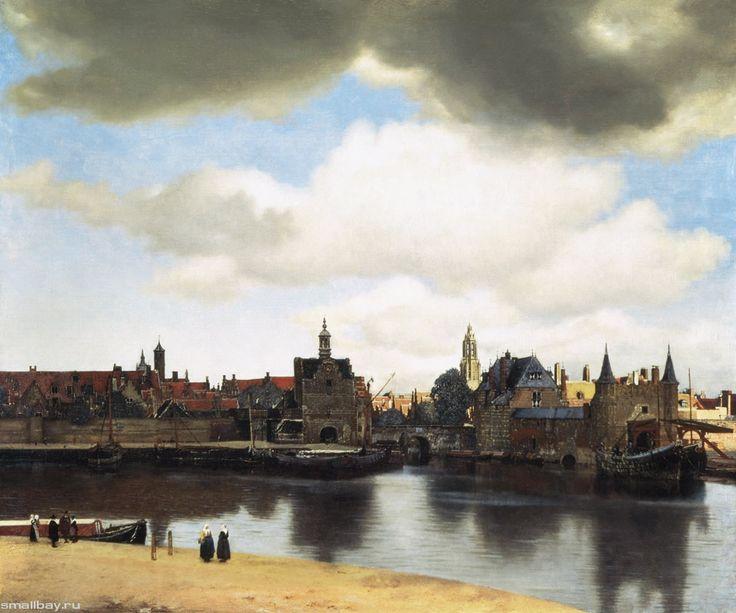 Вид города Делфта, 1658-1660 Маурицхейс, Гаага.