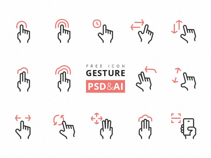 This touch screen gesture combines rectangle with rounded corner. Get 'em here: download .I can't add an attachment so you can see the fullpage here: behance. this project is free to download, you ...