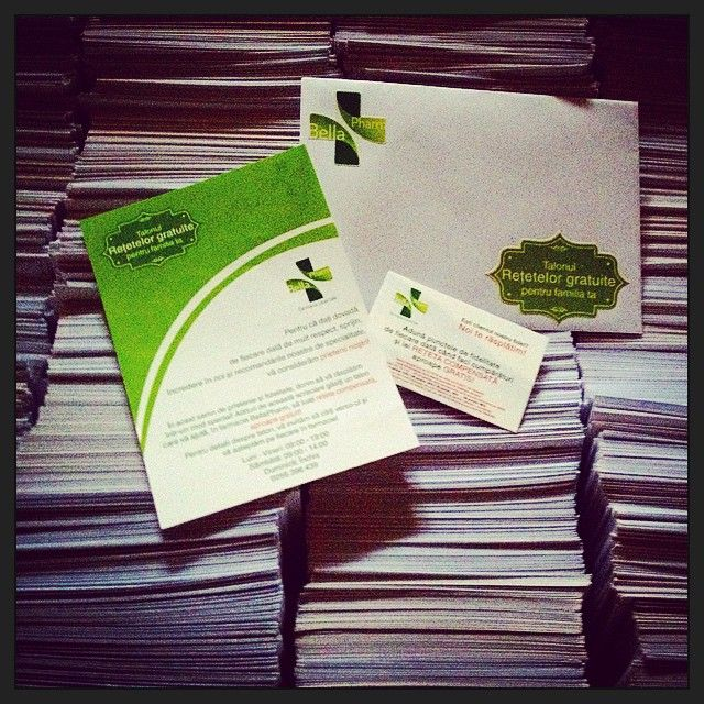 2000 envelopes + 4000 stickers + 2000 A6 flyers + 2000 coupons / Pharma client