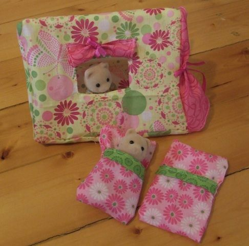 Cool I think it's a great idea to make stuff and I love the bright fun and color that the fabric gives your life or life's of your calico critters