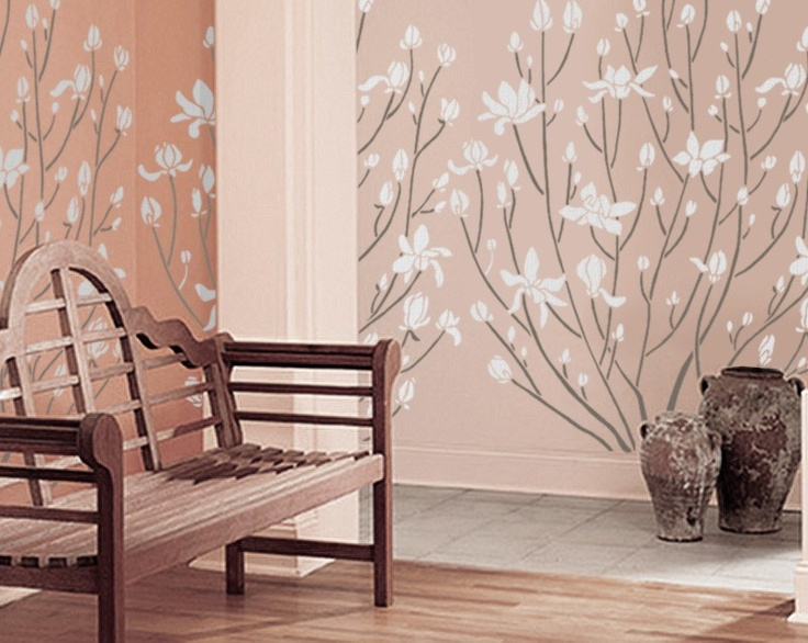 Stencil For Walls   Giant MAGNOLIA Bush   5 Ft. Tall   REUSABLE Wall Stencil