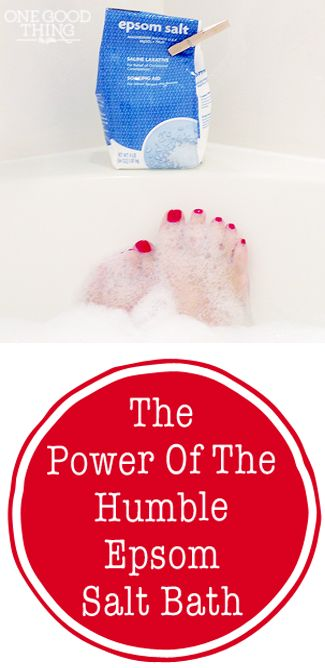 The Power Of The Humble Epsom Salt Bath! It's not just for sore muscles and constipation anymore! | One Good Thing By Jillee