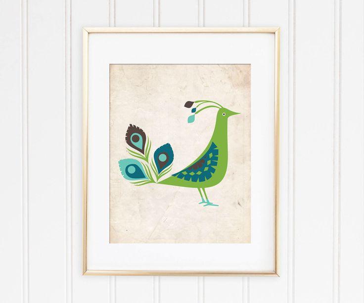 Un favorito personal de mi tienda de Etsy https://www.etsy.com/es/listing/548800026/peacock-printable-art-for-nursery-decor