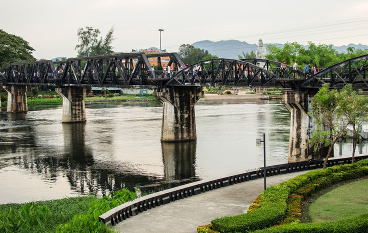 The River Kwai Bridge - Visit Thailand from November 26 to December 5 to see River Kwai Bridge Festival!! See more of Southeast Asia's attraction during winter time.