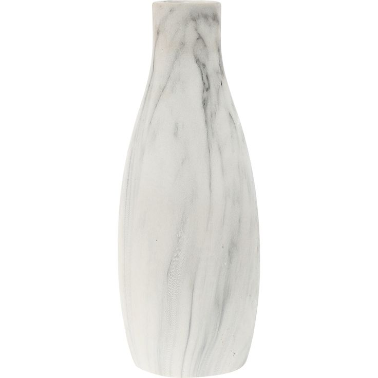White Marble Effect Bottle Vase 30cm - TK Maxx