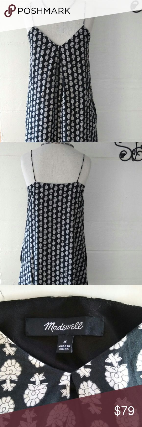 "Madewell Spaghetti Starp Dress Up to the minuet style dress. Side peaks at the hem line.  Shift style.  Sure to get tons of compliments wearing this darling dress. NWOT. Bust. 35"" length 35"" Madewell Dresses Mini"