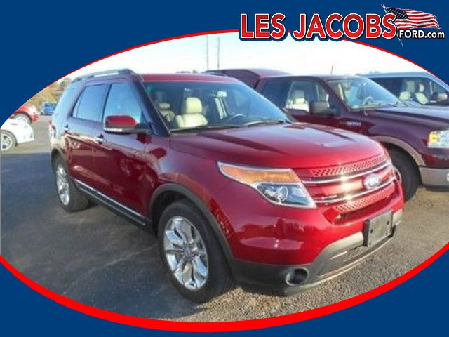 8850 – 2013 #Ford #Explorer Limited 4WD – Ruby Red with Medium Light Stone, V-6 3.5L, Auto, Dual climate control, Reverse Sensing System with Backup Camera, Power Adjustable Pedals, Power Memory Heated Leather Seats, Power Rear Liftgate, Navigation, Local Trade-in! #Used #Cars #Cassville, #MO