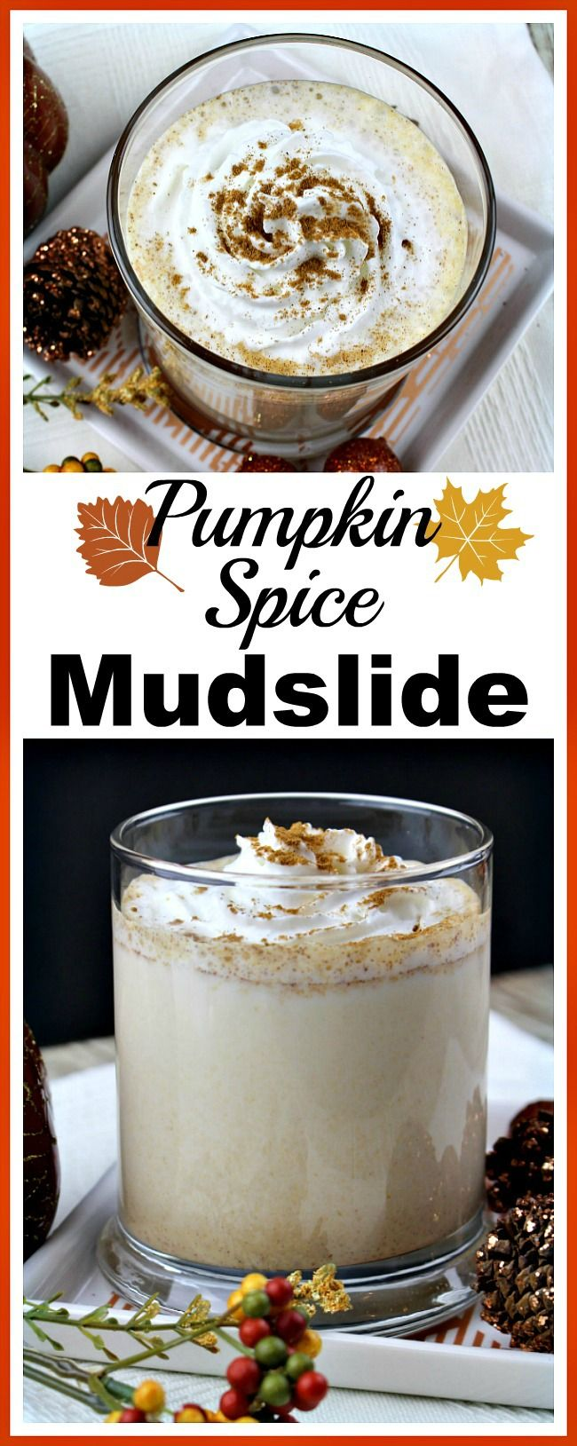 Pumpkin Spice Mudslide- Want an easy, homemade alcoholic drink recipe to serve to your guests at a party or Thanksgiving dinner? Then you have make this pumpkin spice mudslide! | drink recipe, fall drink, homemade drink