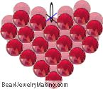 Valentine Day Beaded Heart - Make with pearls to look like this: http://www.beadjewelrymaking.com/large/heartpendant.html