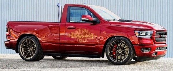Modern Dodge Lil Red Express Looks Like A Ram 1500 On Steroids Autoevolution In 2020 Dodge Classic Pickup Trucks Sport Truck