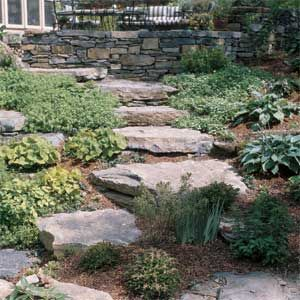 how to build retaining wall stairs outside your house