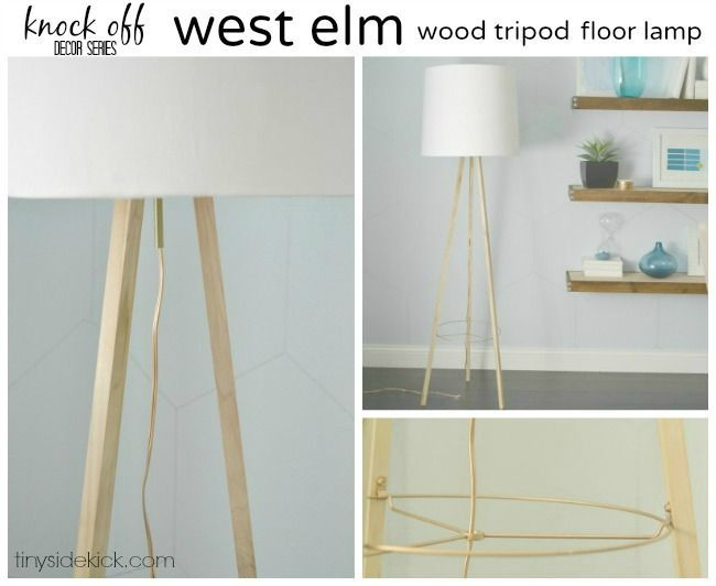 West Elm Inspired Tripod Floor Lamp {Knock Off Decor Series} #knockoffdecor #diylighting Knock off Decor #DIY Knock Off Pottery Barn