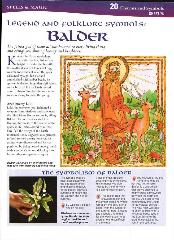 Legend and Folklore Symbols: Balder