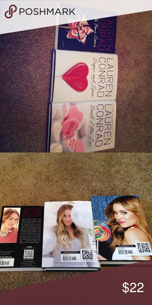 Lauren Conrad books-please read description LC-fame game 11 will sell for 6, LC-sugar and spice (18) will sell for 10, and LC-sweet little lies (18) will sell for 10 or all of them for $22 open to offers! Lauren conrad  Other