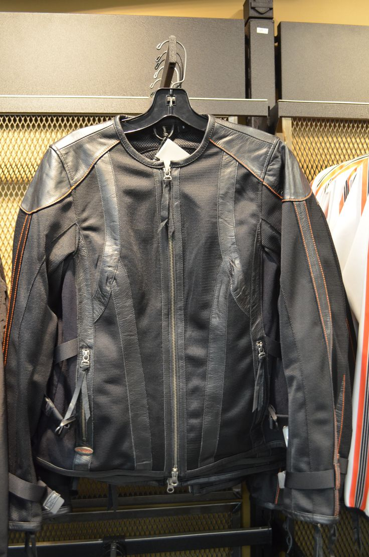 Fall 2013 Women S Black Harley Davidson Leather And Mesh