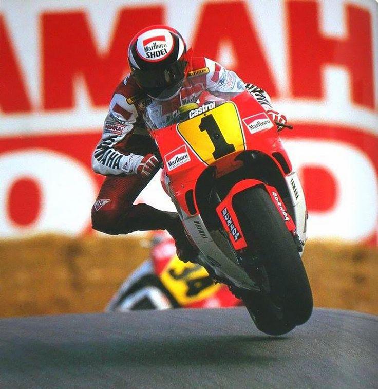 First in flight. Wayne Rainey, 1991.