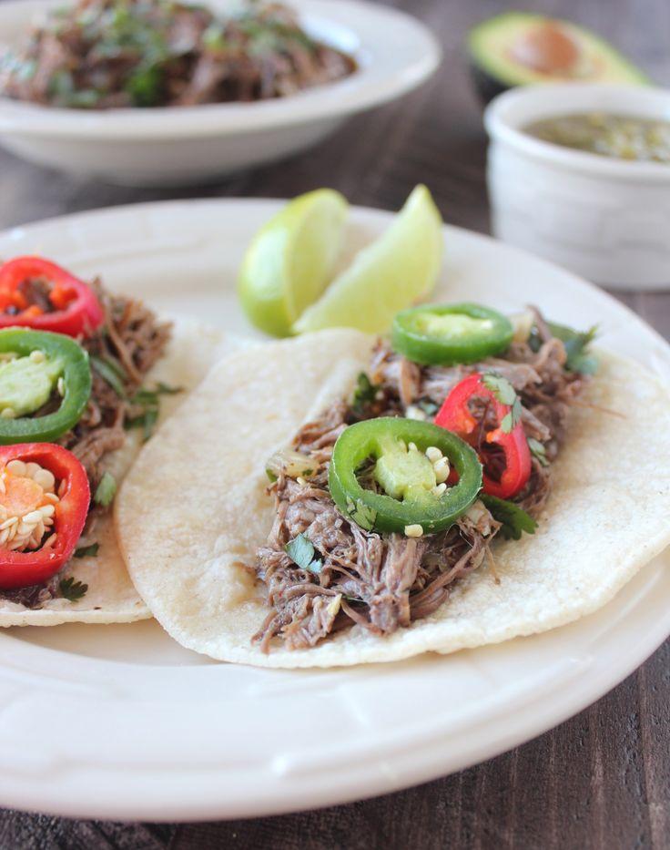 Slow Cooked Beef Barbacoa Tacos Recipe
