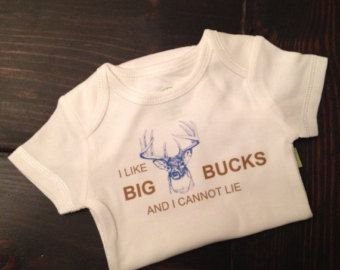 I like big bucks and I cannot lie for baby bodysuit by FatOwlKids