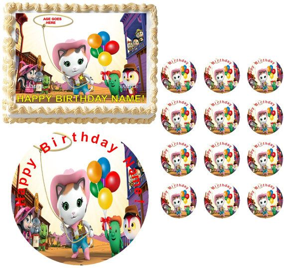 Sheriff Callie's Wild West Cast SHERIFF CALLIE Edible Cake Topper Frosting Sheet All Sizes on Etsy, $7.25